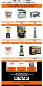 Caterweb : Clearance Specials (06 October 2020 - While Stocks Last)