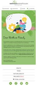 Wellness Warehouse : To Our Wellness Family (Request Valid Dates From Retailer)