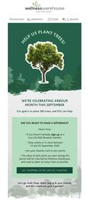 Wellness Warehouse : Plant Trees With Us This Arbour Month!  (Request Valid Dates From Retailer)