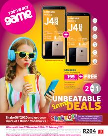 Game Vodacom : Unbeatable Summer Deals (7 December 2020 - 7 February 2021)