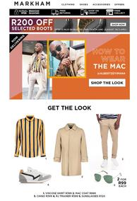 Markham : Shop The Look Now (Request Valid Dates From Retailer)