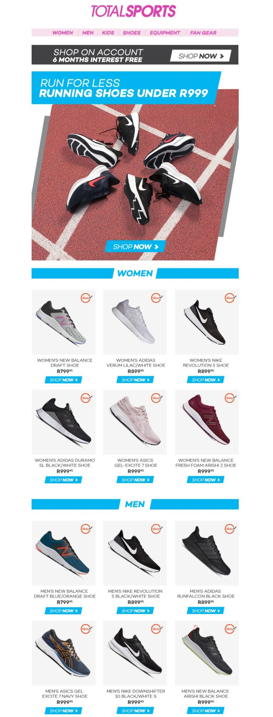 Running Shoes Under R999 (Request Valid