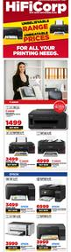 HiFi Corp : Our Wide Range Of Printers & Ink (29 July - 01 August 2020)