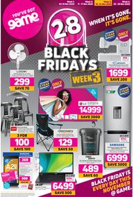 Game : Black Friday Week 3 (18 November - 24 November 2020)