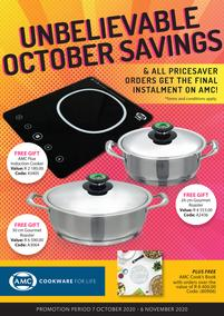 AMC : Unbelievable October Savings (07 October - 06 November 2020)