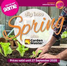 Game : Dig into Spring (24 August - 27 September 2020)