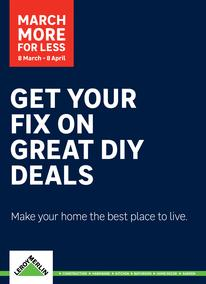 Leroy Merlin : Get Your Fix On Great DIY Deals (8 Mar - 8 Apr 2019)