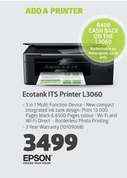 Epson Ecotank ITS Printer L3060 — m guzzle co za