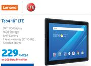 "Lenovo Tab4 10"" LTE Tablet-On 2GB Data Price Plan"