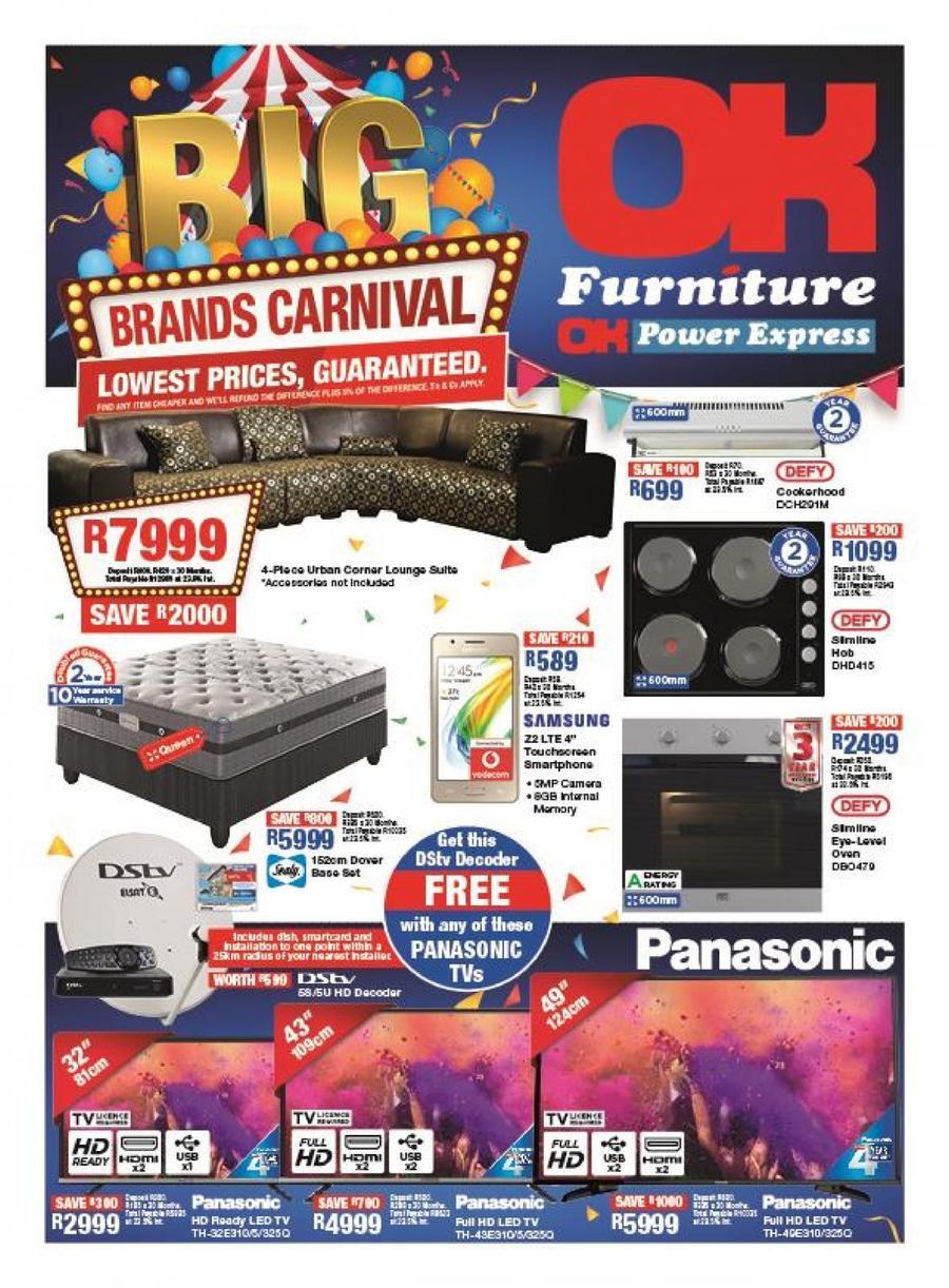 Ok Furniture Big Brand Carnival 25 Apr 06 May 2018 Www
