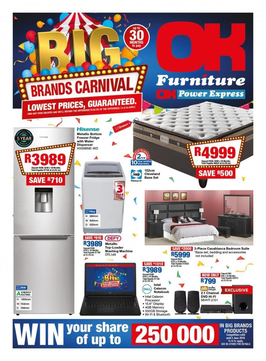 Ok Furniture Big Brand Carnival 08 May 20 May 2018 Www