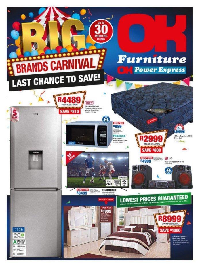 Ok Furniture Big Brand Carnival 23 May 03 Jun 2018 Www