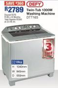 Defy Twin-Tub 1300m Washing Machine DTT165