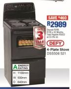 Defy 4-Plate Stove DSS506 521