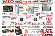 Tafelberg Furnishers : Mid Month Madness (16 Aug - 26 Aug 2018)