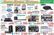 Tafelberg Furnishers Western Cape : Super Spring Savings (05 Sep - While Stock Last)