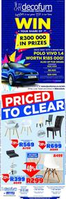 Decofurn Western Cape : Priced To Clear (10 Sep - 17 Sep 2018)