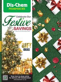 Dis-Chem : Festive Savings (4 December - 24 December 2020)