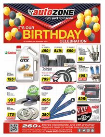Auto Zone : Its Our Birthday (23 Oct - 04 Nov 2018)