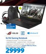 Asus GL702 Gaming Notebook