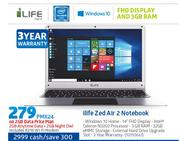 iLife Zed Air 2 Notebook-On 2GB Data price Plan