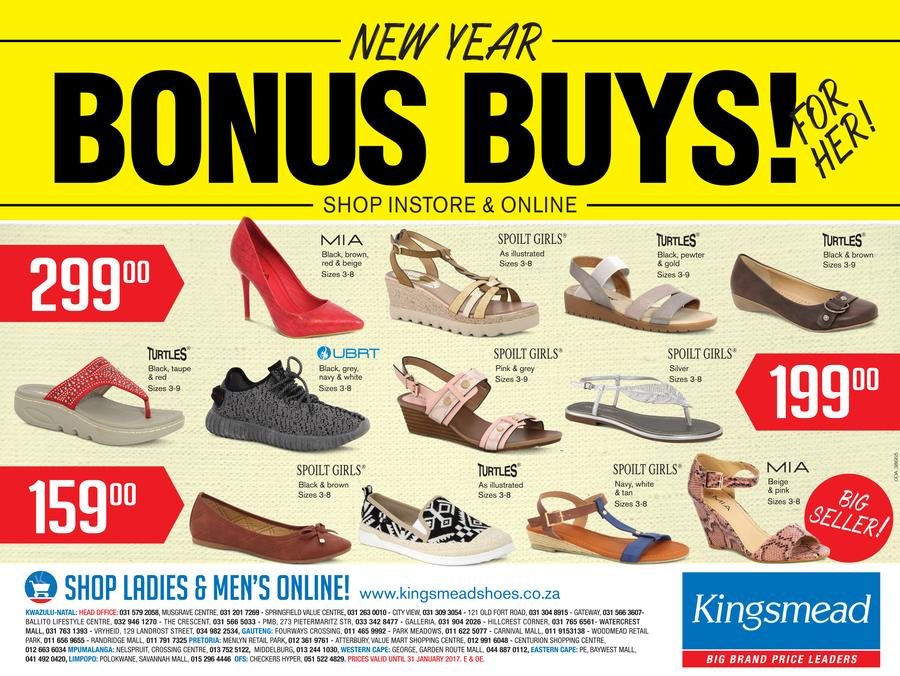 Kingsmead Shoes : New Year Bonus Buys