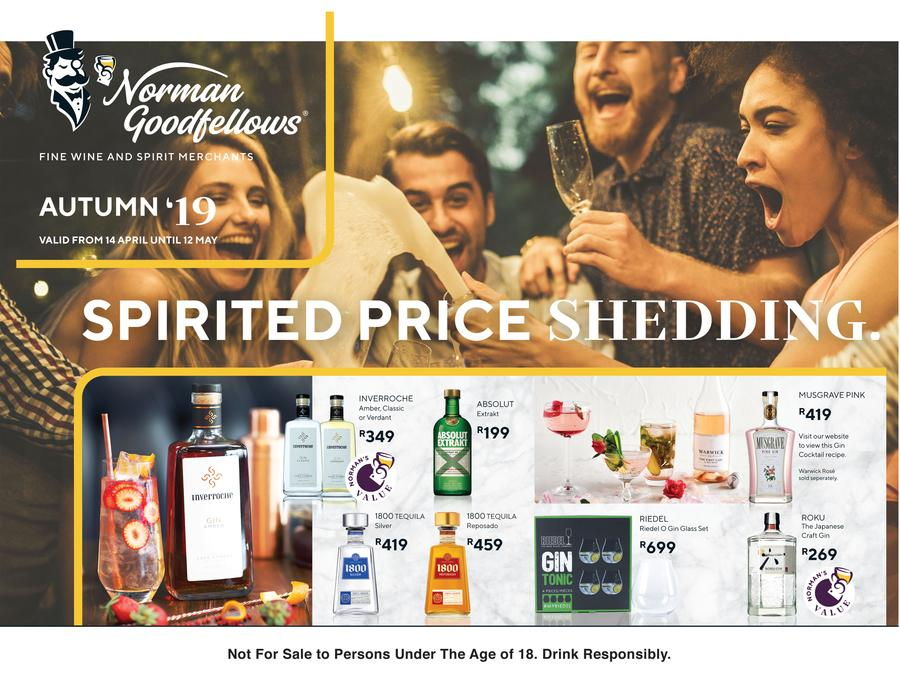 Norman Goodfellows : Spirited Price Shedding (14 Apr - 12 May 2019)