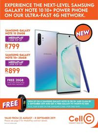 Cell C (22 Aug - 08 Sep 2019)