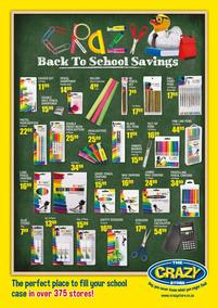 The Crazy Store : Back To School Saving (26 Dec - 31 Jan 2020)