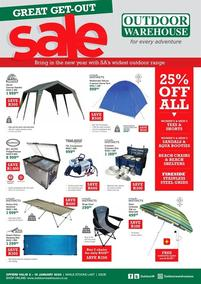 Outdoor Warehouse : Great Get-Out Sale (02 Jan - 19 Jan 2020)