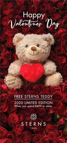 Sterns : Happy Valentines Day (22 Jan 2020 - While Stocks Last)