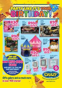 The Crazy Store : Party Like It's Your Birthday (24 July - 23 August 2020)