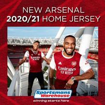 Sportsmans Warehouse : New Arsenal Home Jersey (Request Valid Dates From Retailer)