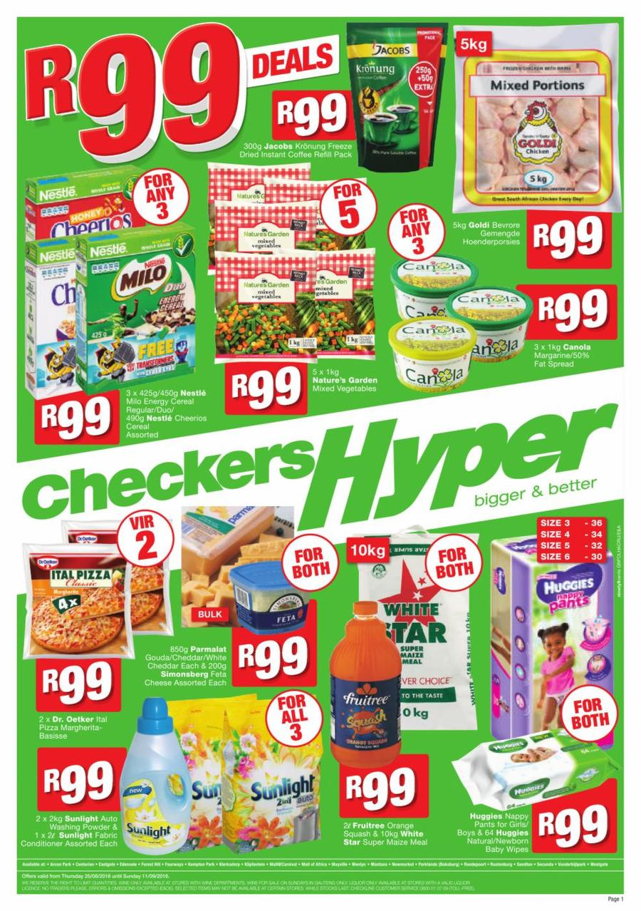 checkers 99 rand deals