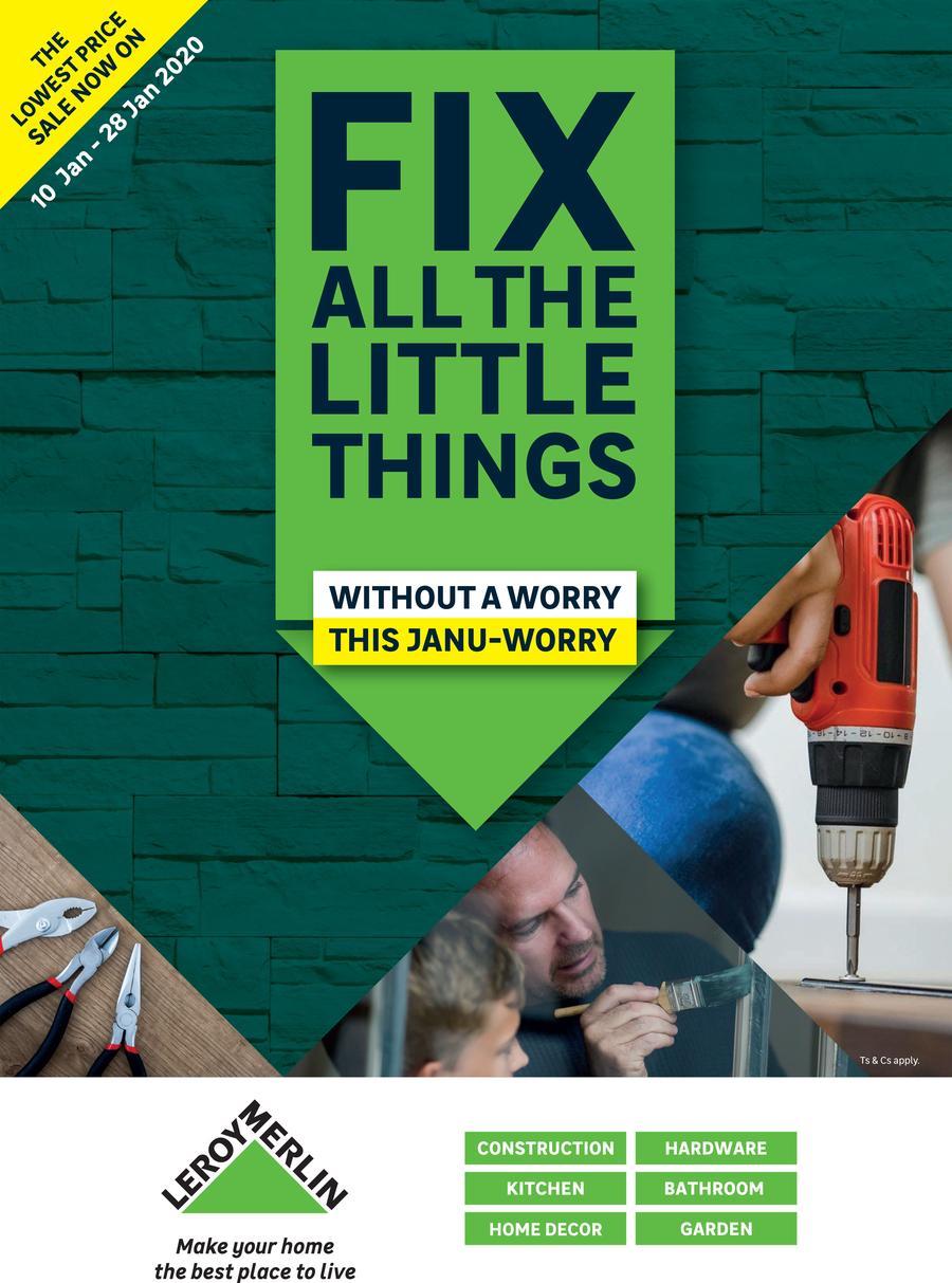 Leroy Merlin Fix All The Little Things 10 Jan 28 Jan