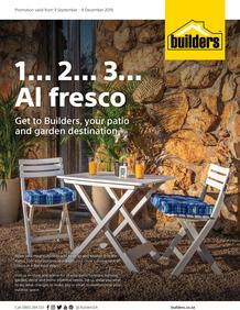 Builders : 1... 2... 3 Al Fresco (9 Sept - 8 Dec 2019)