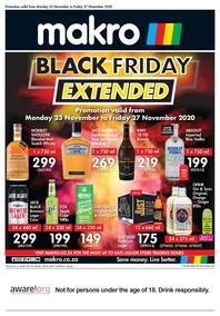 Makro : Black Friday Liquor (23 November - 27 November 2020)