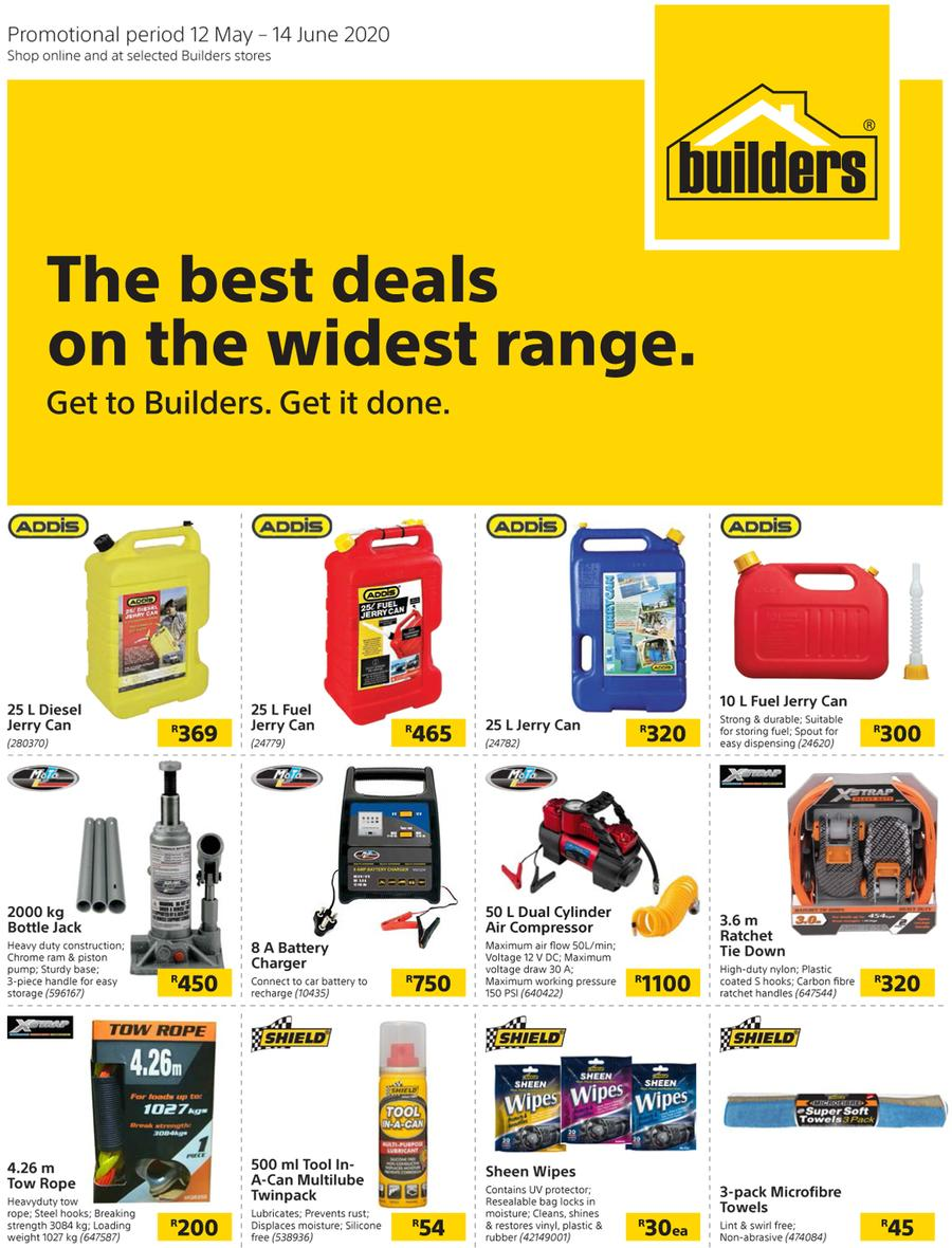 Builders : The Best Deals On The Widest Range (12 May - 14 June 2020)