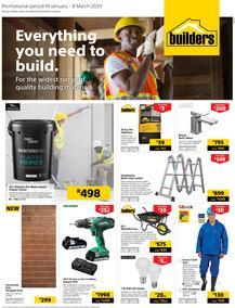Builders Inland : Everything You Need To Build (14 Jan - 8 March 2020)