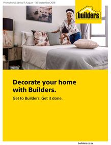 Builders : Decorate Your Home With Builders (7 Aug - 30 Sept 2018)