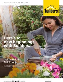 Builders Gardener : Here's To New Beginnings With Builders (22 July - 25 Aug 2019)