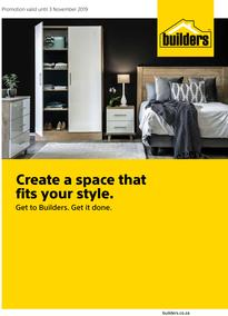 Builders : Create A Space That Fits Your Style (9 Oct - 3 Nov 2019)
