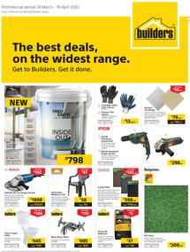 Builders Superstore KwaZulu-Natal & East London: The Best Deals On The Widest Range (24 March - 19 April 2020)