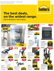 Builders Western Cape & Port Elizabeth : The Best Deals On The Widest Range (24 March - 19 April 2020)