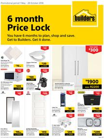 Builders : 6 Month Price Lock (1 May - 28 Oct 2018)