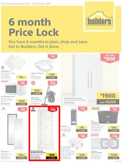 Builders : 6 Month Price Lock (1 May - 28 Oct 2018), page 1