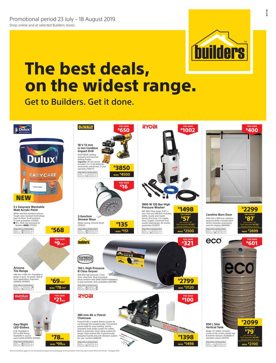 Builders WC & PE : The Best Deals On The Widest Range (23