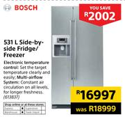 Bosch 531L Side-By-Side Fridge/Freezer
