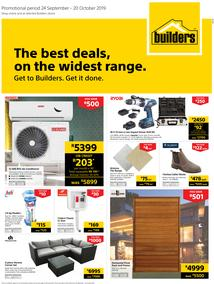 Builders Inland : The Best Deals On The Widest Range (24 Sept - 20 Oct 2019)