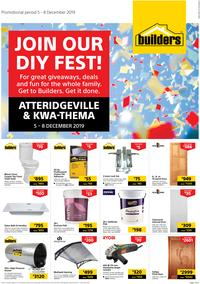 Builders Superstore Atteridgeville & Kwa-Thema : Join Our DIY Fest! (5 Dec - 8 Dec 2019)